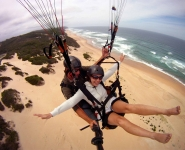 Paragliding in Wilderness