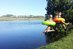River-jumping-pirates-creek-accommodation-kids