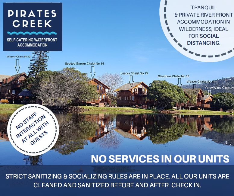 pirates creek self catering accommodation in Wilderness